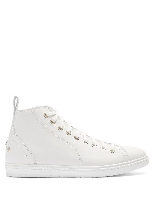 Jimmy chooLeather Cash Sneakers esAeerY