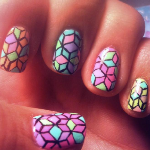 see all 2 videos category edgy geometrical nail art 13