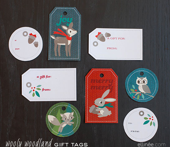 9 free fabulous printable gift tags to top off your christmas wooly woodland printable gift tags for kids paper and pigtails negle Choice Image