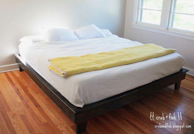 king-sized platform bedframe #DIY #furniture | crab+fish | HaCé TuS ...