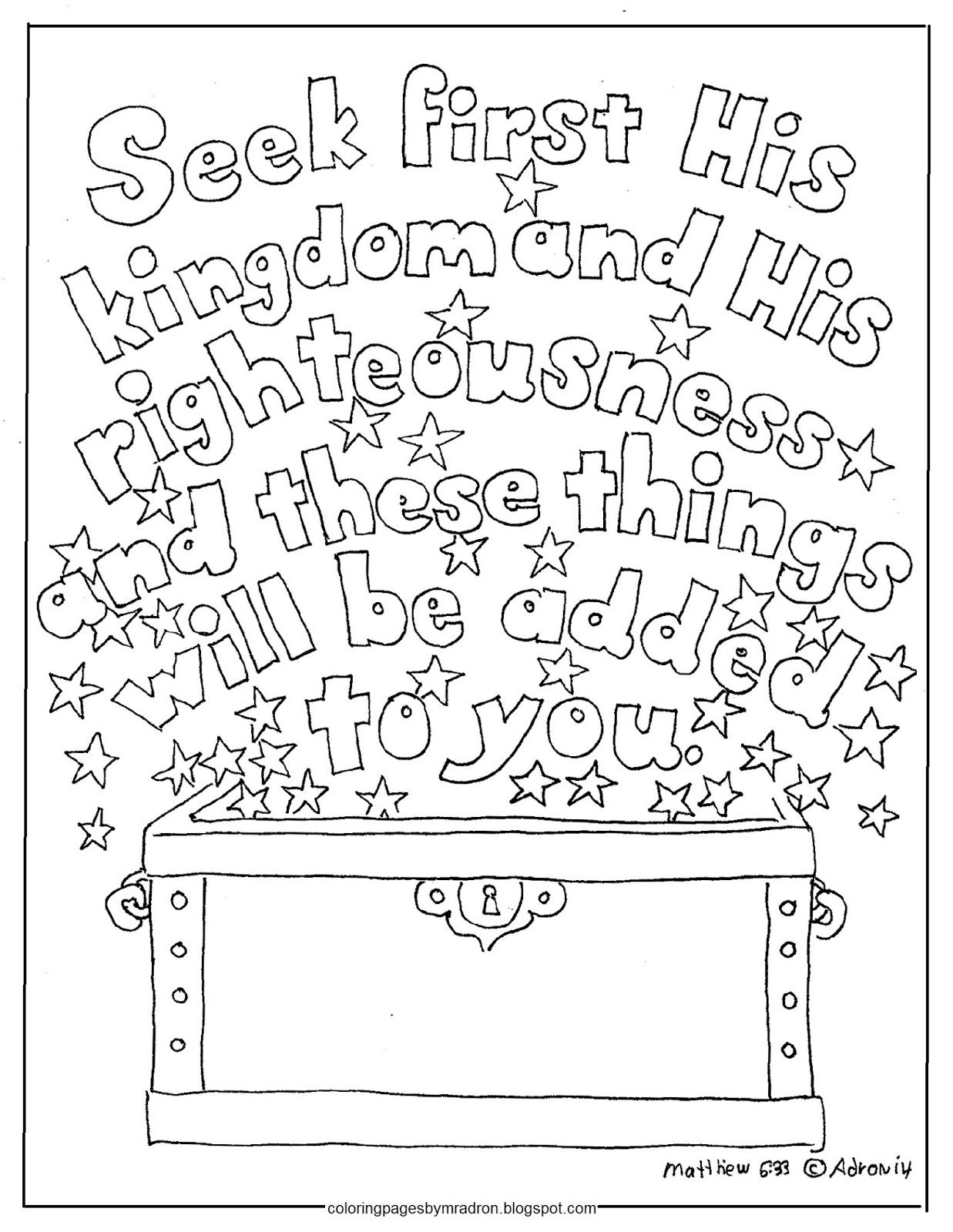Matthew 2b6 33 Jpg With Images Free Kids Coloring Pages Bible