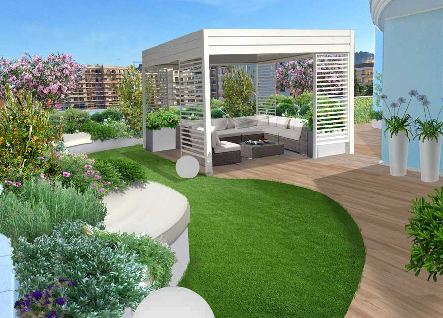 Giardino pensile a pescara progetti di giardini e - Terrazzi e giardini pensili ...