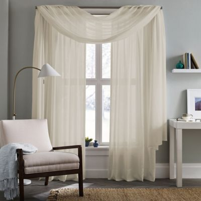 Real Simple Thermalight Energy Efficient Crushed Voile Window Curtain Panel    BedBathandBeyond.com