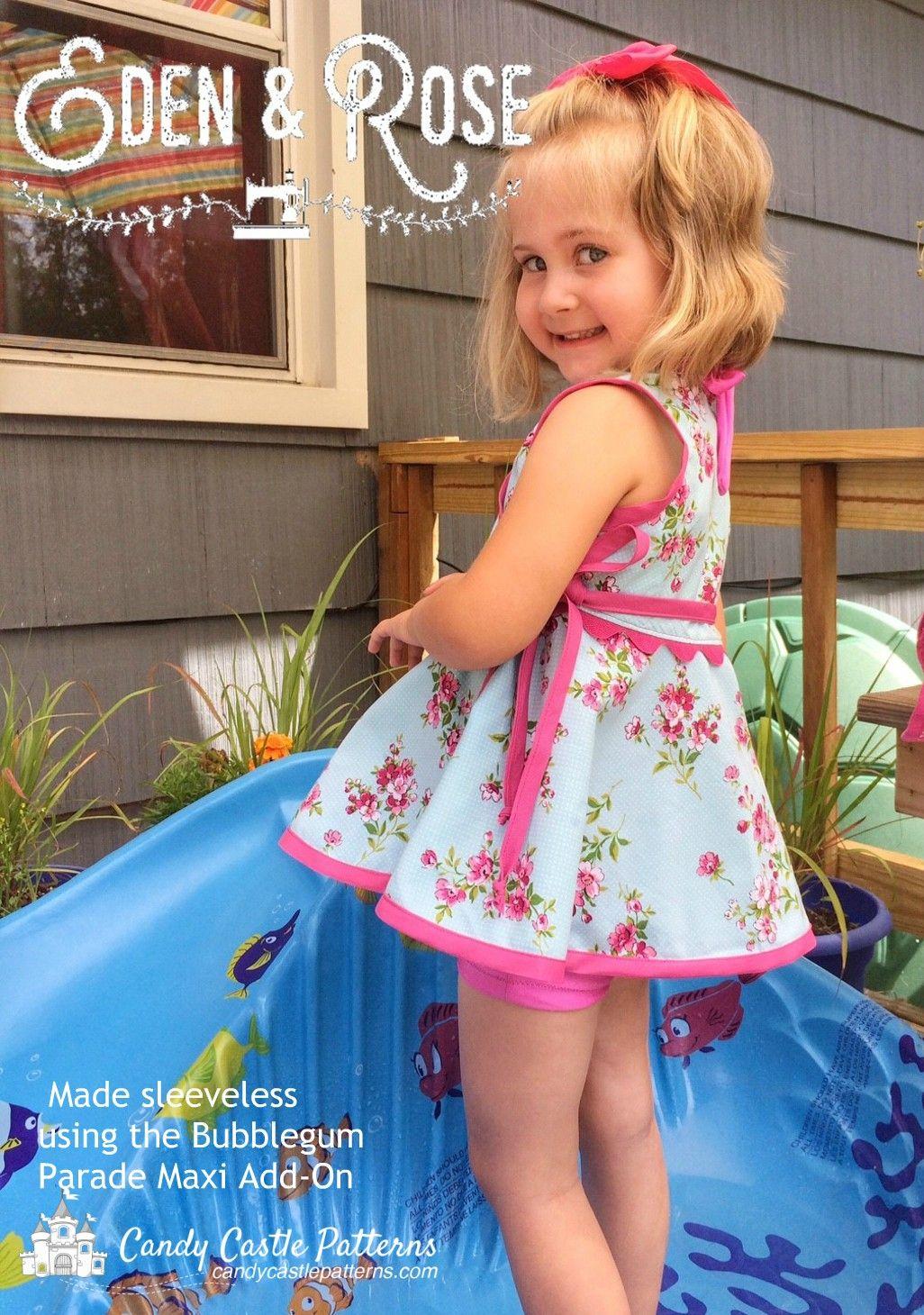 Bubblegum Tunic Add-On Sewing Pattern