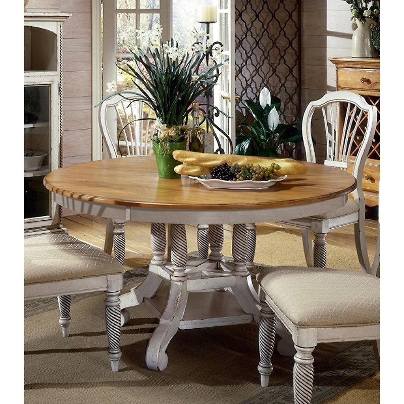 Hillsdale Furniture Wilshire Round/Oval Table in White