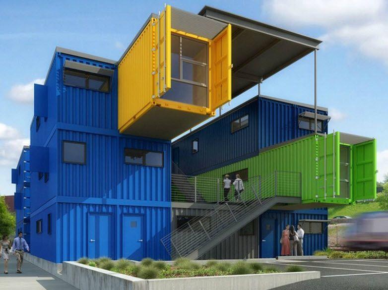 Dise o de casas con contenedores construcci n luis for Diseno de oficinas con contenedores