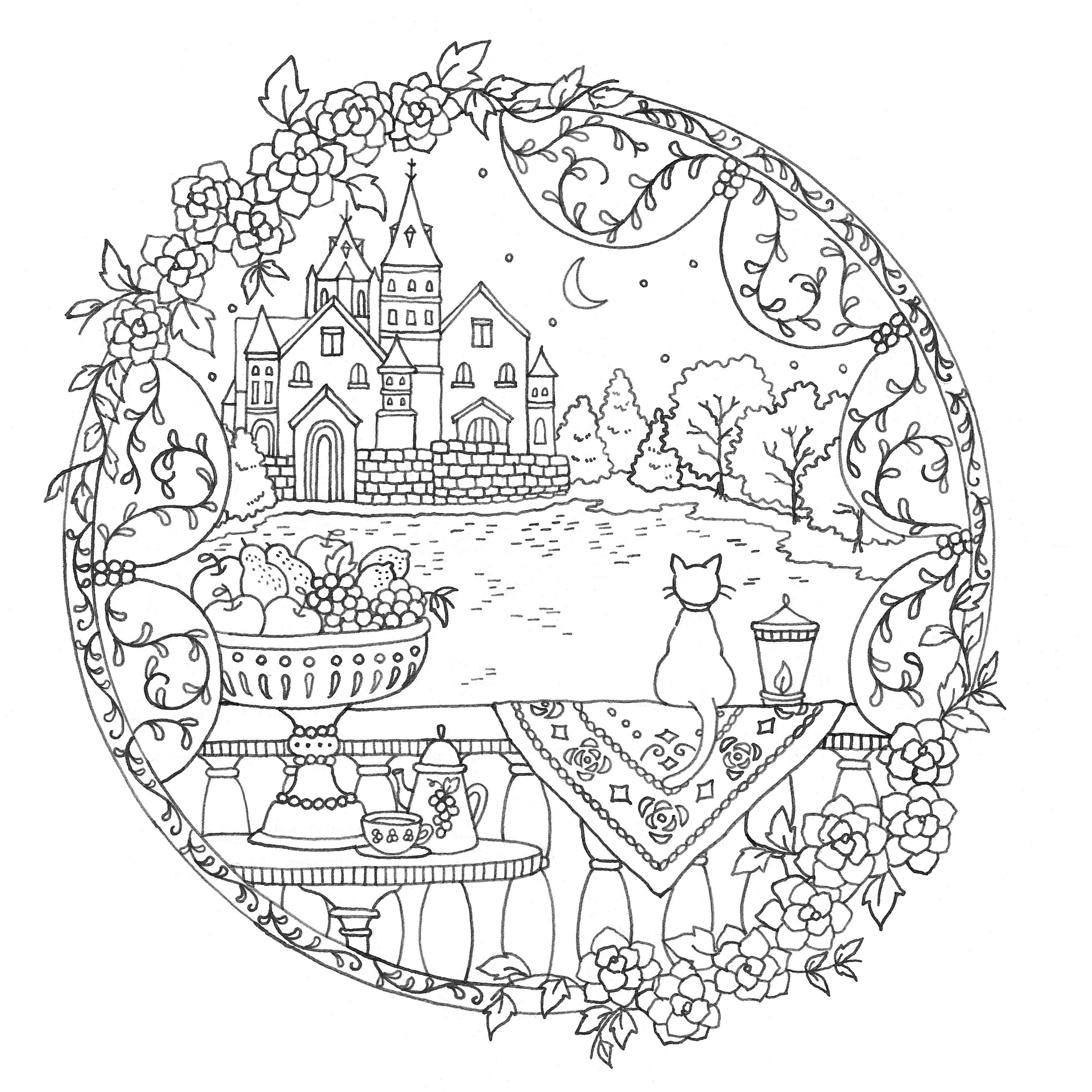a fantasy coloring book by eriy line art pinterest coloring