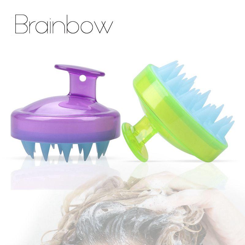 Brainbow 1pc hair washing comb silicone head massage scalp