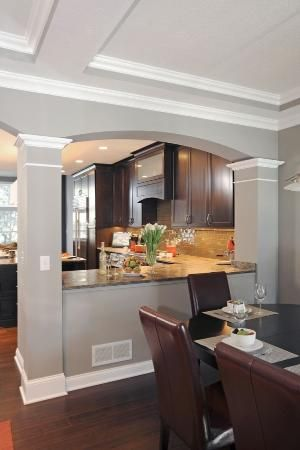 Removing A Wall Between The Dining Room And Kitchen Made Both Rooms Seem Larger Www Ketroncustombuilde Kitchen Remodel Design Living Room Kitchen Kitchen Room