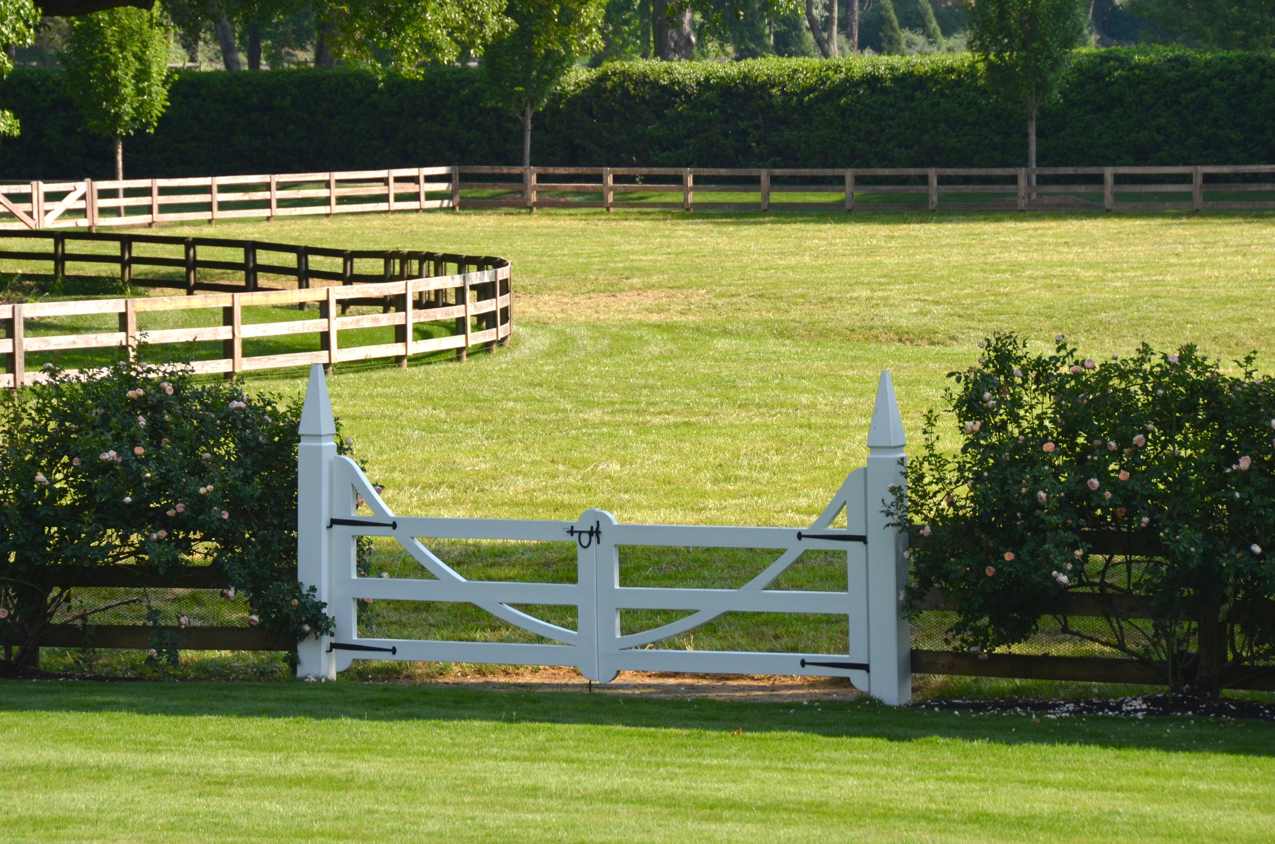 Landscape architect atlanta ga - White Gate On A Wood Fence A Planters Design Atlanta Ga