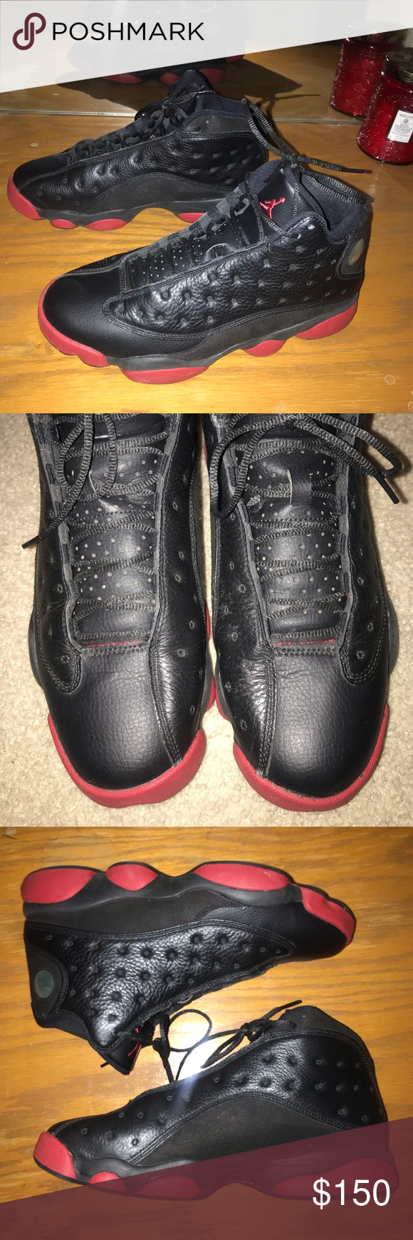 timeless design 75231 d917b Men s Air Jordan 13 released 2014 Air Jordan 13 black red released December  2014, worn a couple times, before being put in storage since January 2015.