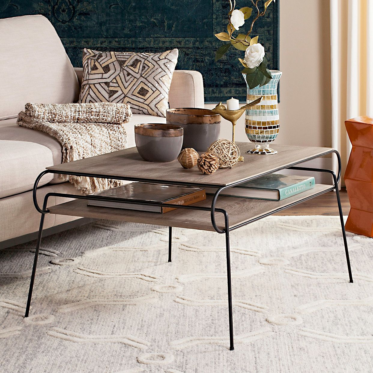 Safavieh Mid Century Modern 2 Tier Coffee Table Kohls In 2020 Coffee Table Contemporary Coffee Table Home Decor [ 1242 x 1242 Pixel ]