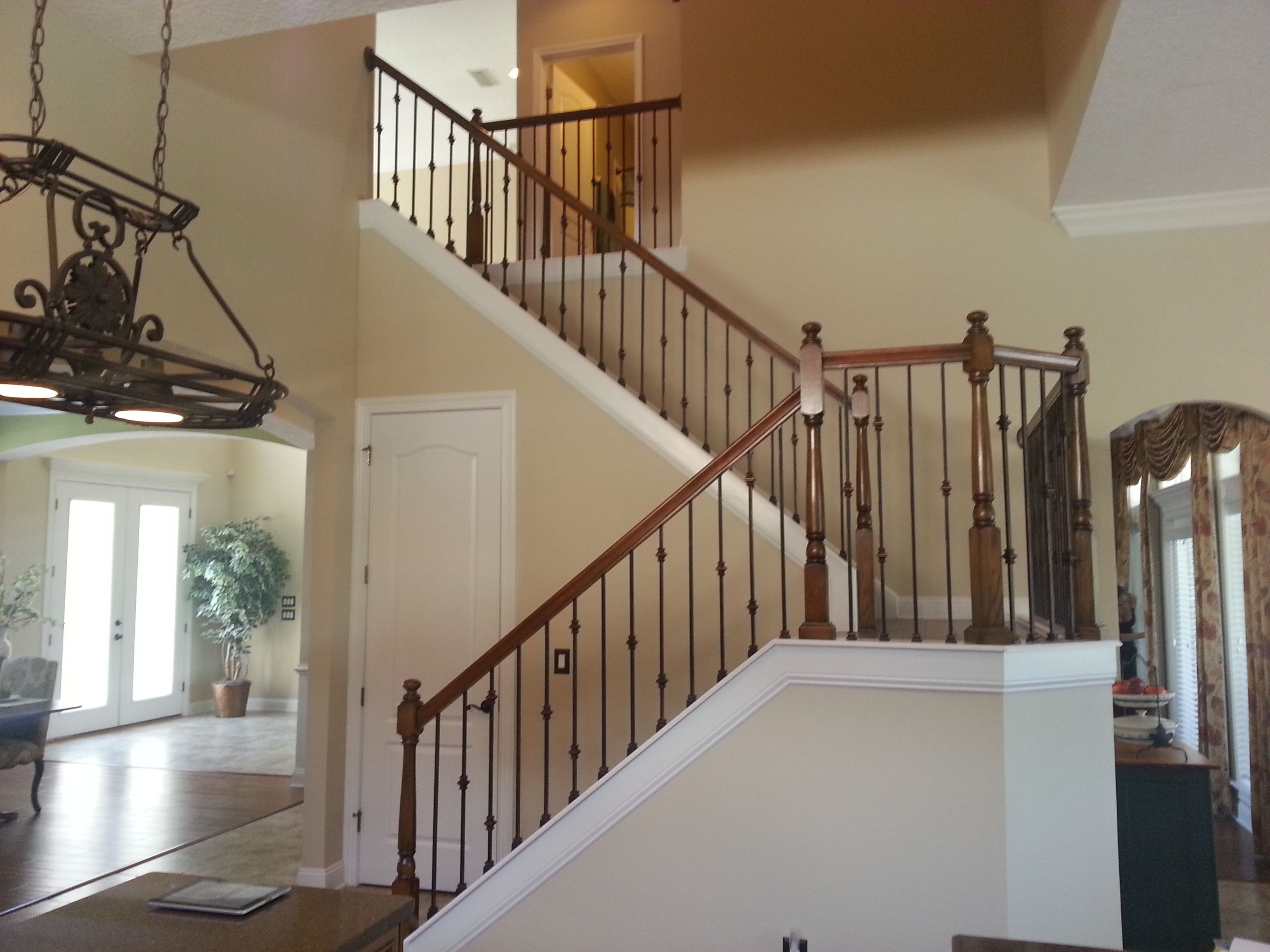 Awesome Rod Iron Stair Railing Part - 14: Wrought Iron Stair Railing Styles For Trendy Staircase Ideas: Stunning Wrought  Iron Stair Railing With