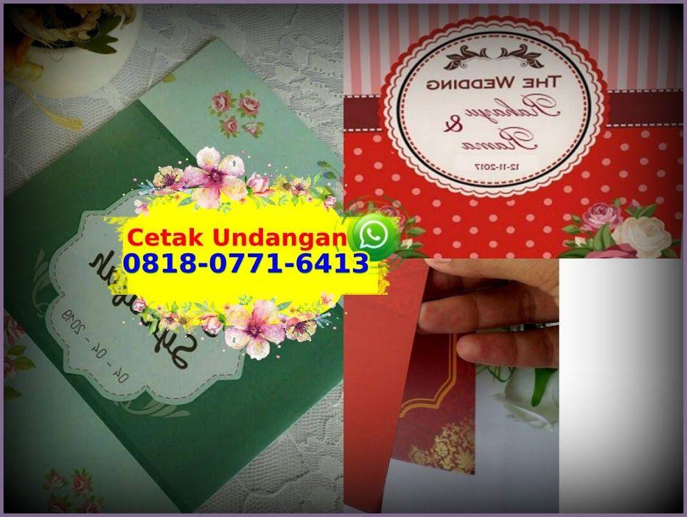 Kartu Undangan Surabaya 0818 0771 6413 Whatsapp Book Cover Art