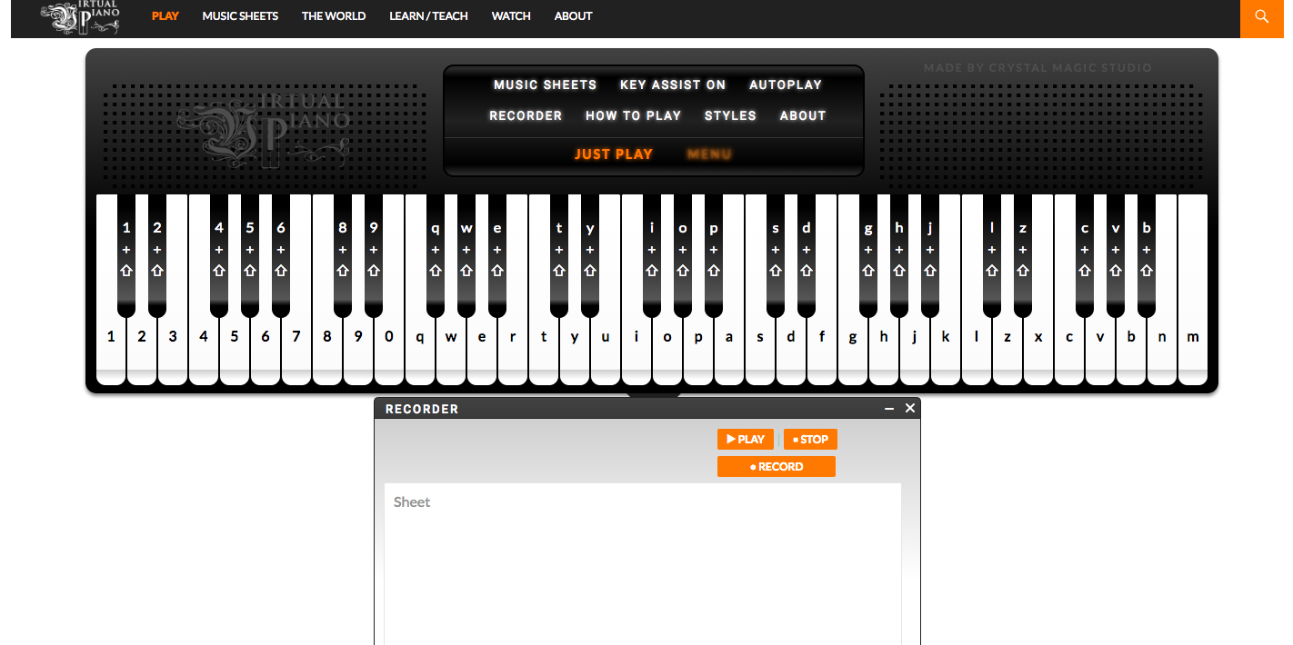 Do You Like Playing The Piano Well Now You Can Play It As Much As You Want Thanks To Virtual Piano This Website Online Piano Keyboard Computer Online Piano