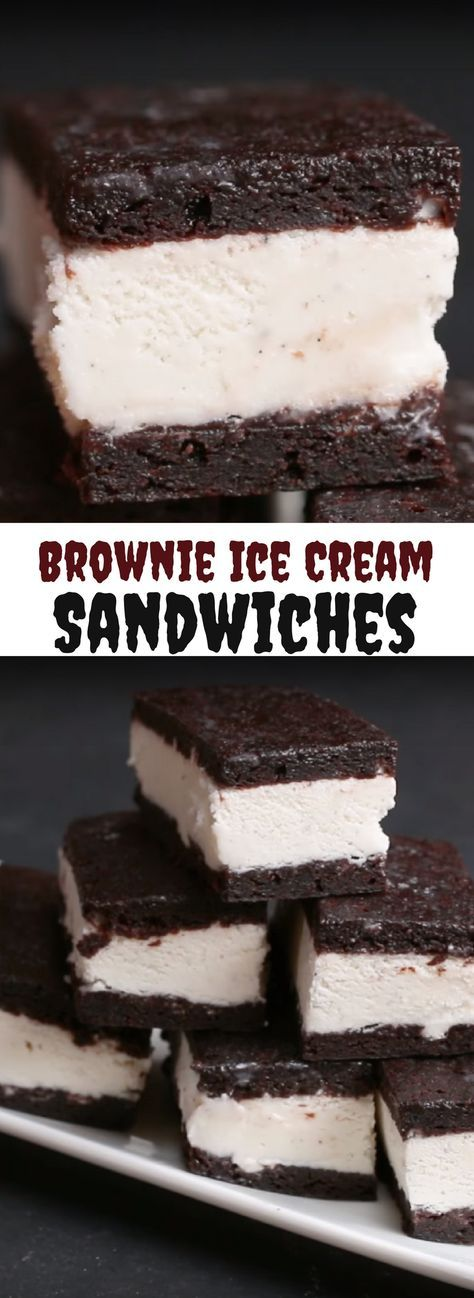 Brownie Ice Cream Sandwiches Best Baking Video Recipe #dessert #brownie #icecreamsandwich