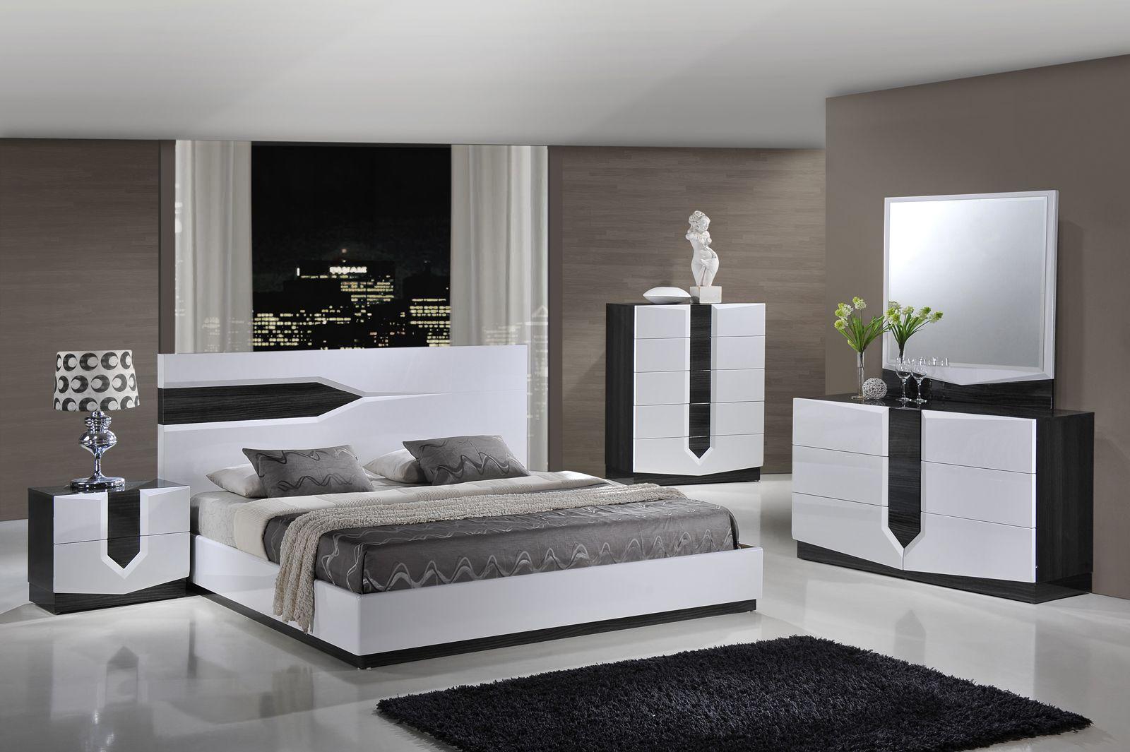 Best Global Furniture Hudson 4 Piece Platform Bedroom Set In 400 x 300