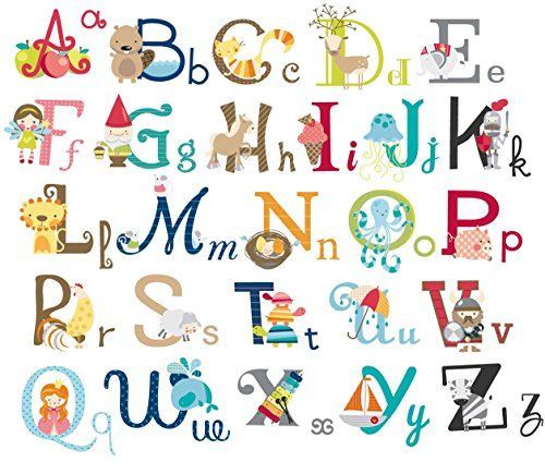 big graphic alphabet letters kids roomnursery wall decal http - Alphabet Pictures For Kids