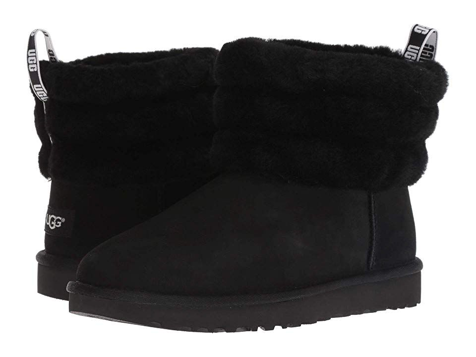 UGG Fluff Mini Quilted Women's Pull on Boots Black in 2020