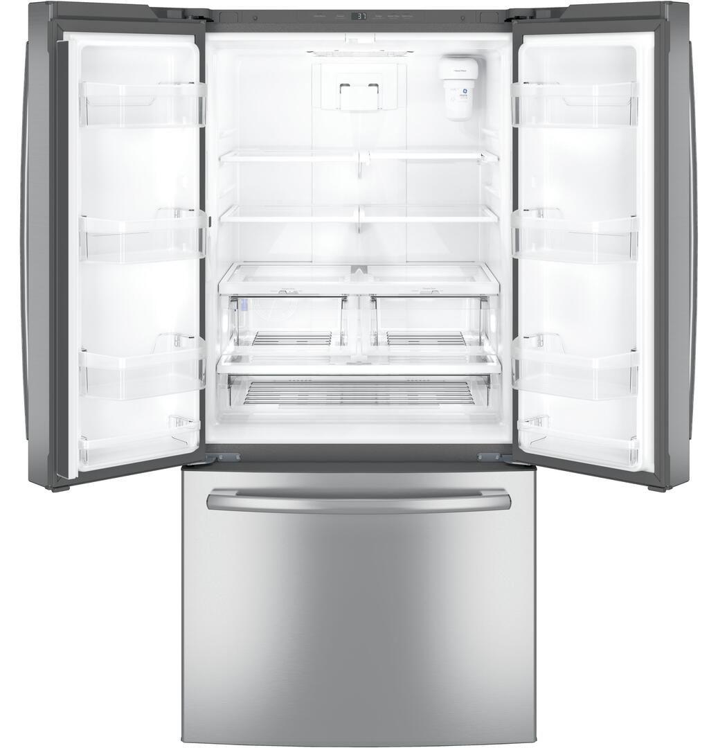 Ge Gne25jskss 1 703 00 French Door Refrigerator French Doors Slate Refrigerator