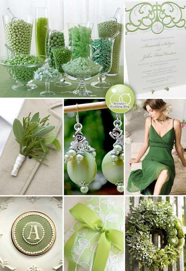 Light Green Themed Wedding