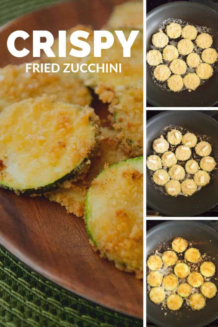 Too much zucchini Try some crispy fried zucchini These buttery lightly salted pan fried zucchini slices are absolutely addictive