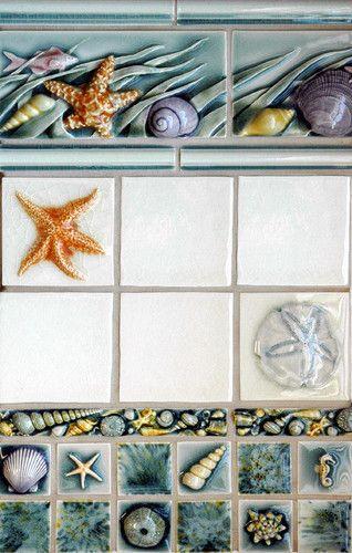 Sealife Marine Theme Tropical Bathroom Tile Portland Pratt