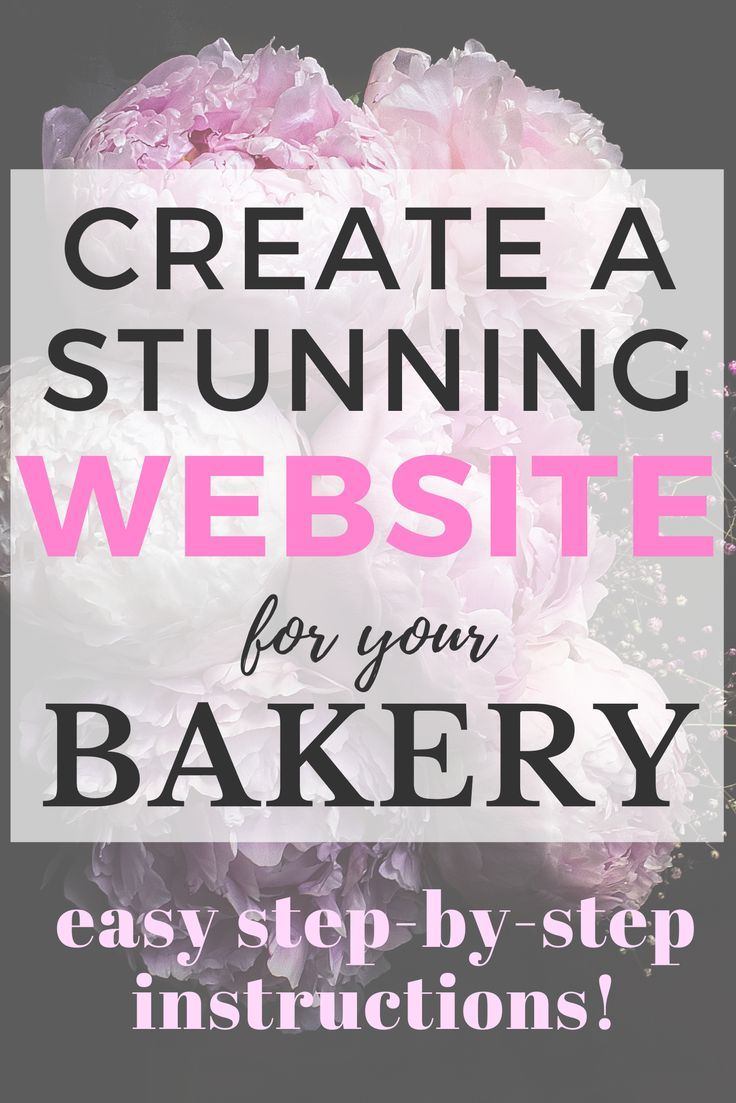 How To Make A Bakery Website in 2020 (With images
