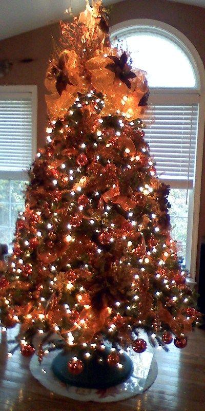 Perfect Orange Christmas Tree My Color Christmas Pinterest