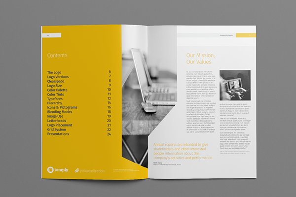 Annual Report Template On Behance  Mise En Page Graphique