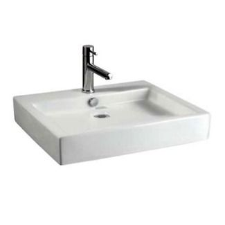 American standard studio above counter rectangular bathroom sink in white list price also ceramic vessel with overflow