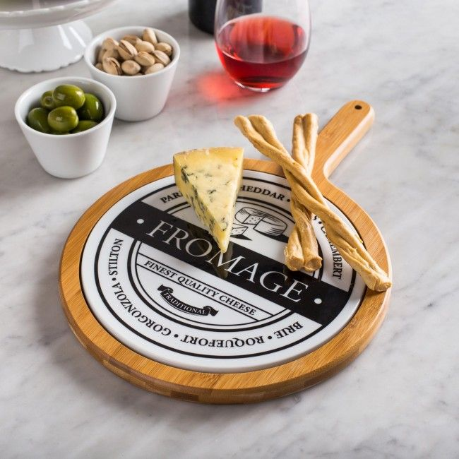 KSP Cheese Porcelain u0026 Wood Serve Tray (White) available for sale at the best price at Kitchen Stuff Plus your Serving Trays u0026 Platters store.  sc 1 st  Pinterest & Our Cheese Serving Tray provides ample surface to serve your finest ...