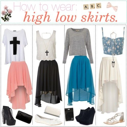 How to wear high low skirts   Clothing inspiration ♥   Pinterest ...