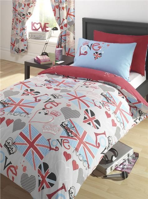 Union Jack Love Rock Duvet Cover And Curtains, Everything In My Daughteru0027s  Room Will Be