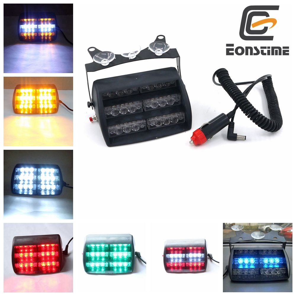 Strobe Lights For Cars Enchanting Eonstime 18 Led Emergency Vehicle Strobe Lights Windshields Design Inspiration