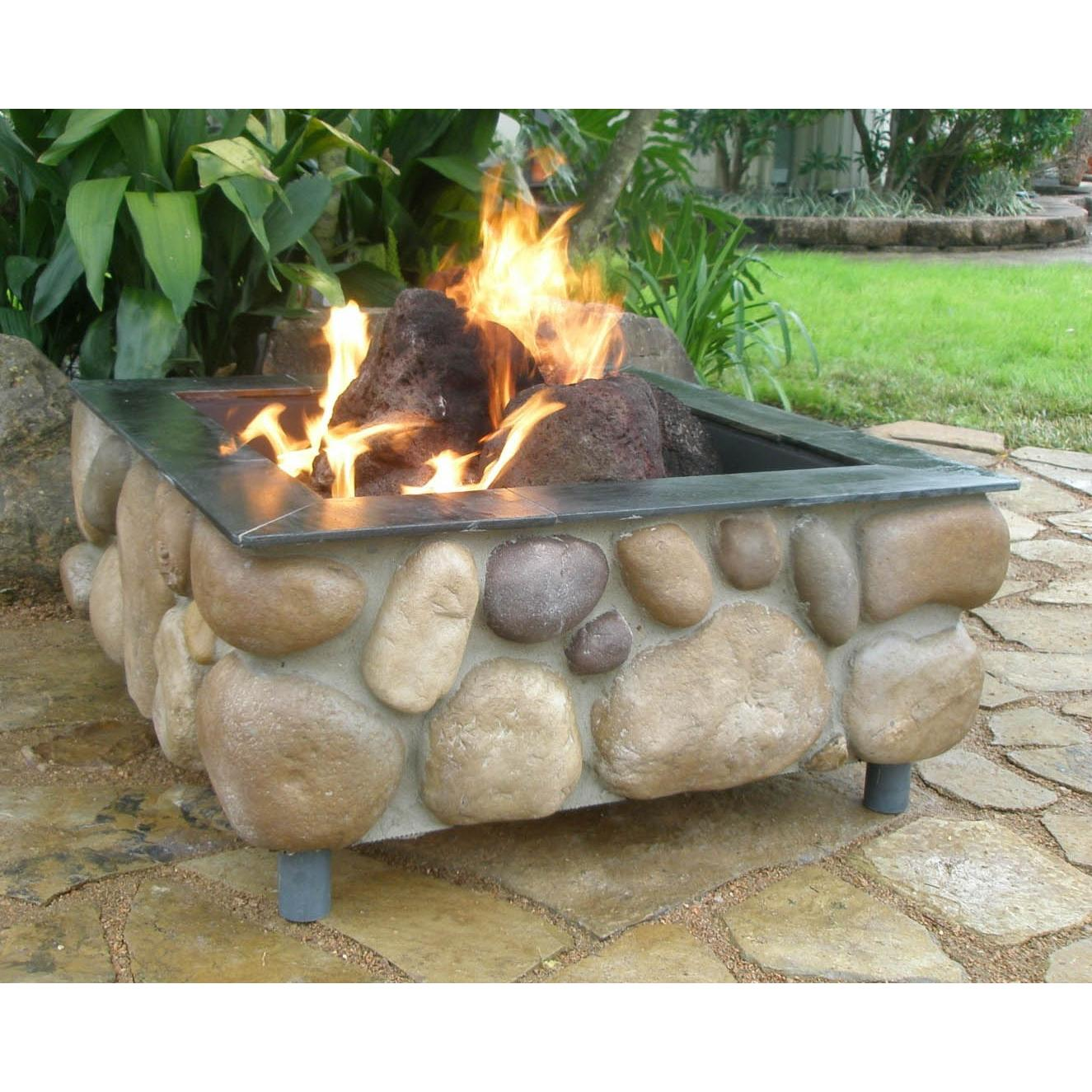 River stone patio wall with cap google search our outdoor oasis