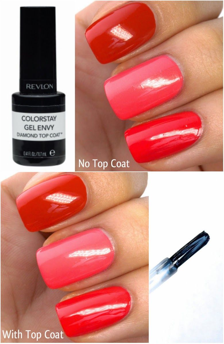 Revlon ColorStay Gel Envy Longwear Nail Enamel & Diamond Top Coat ...