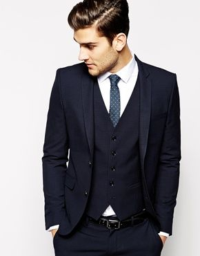 Selected Lux Tonal Check Suit Jacket In Skinny Fit #style #fashion