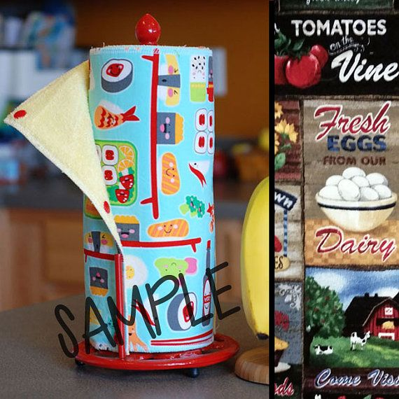Tree Saver Towels - Farm Fresh - Reusable, Eco-Friendly, Snapping Paper Towel Set - Cotton and Terry Cloth