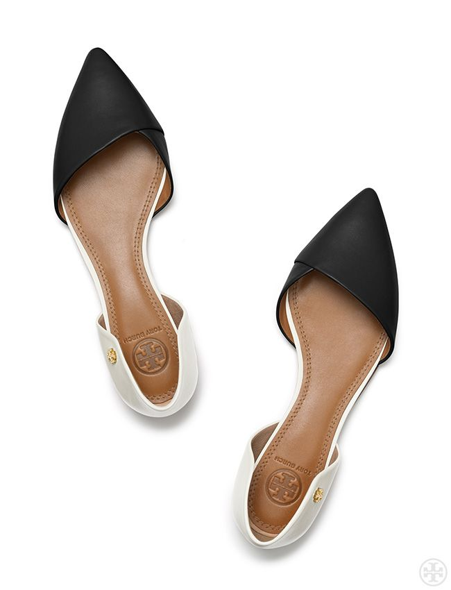 A modern take on the basic skimmer: Tory Burch Viv Flat