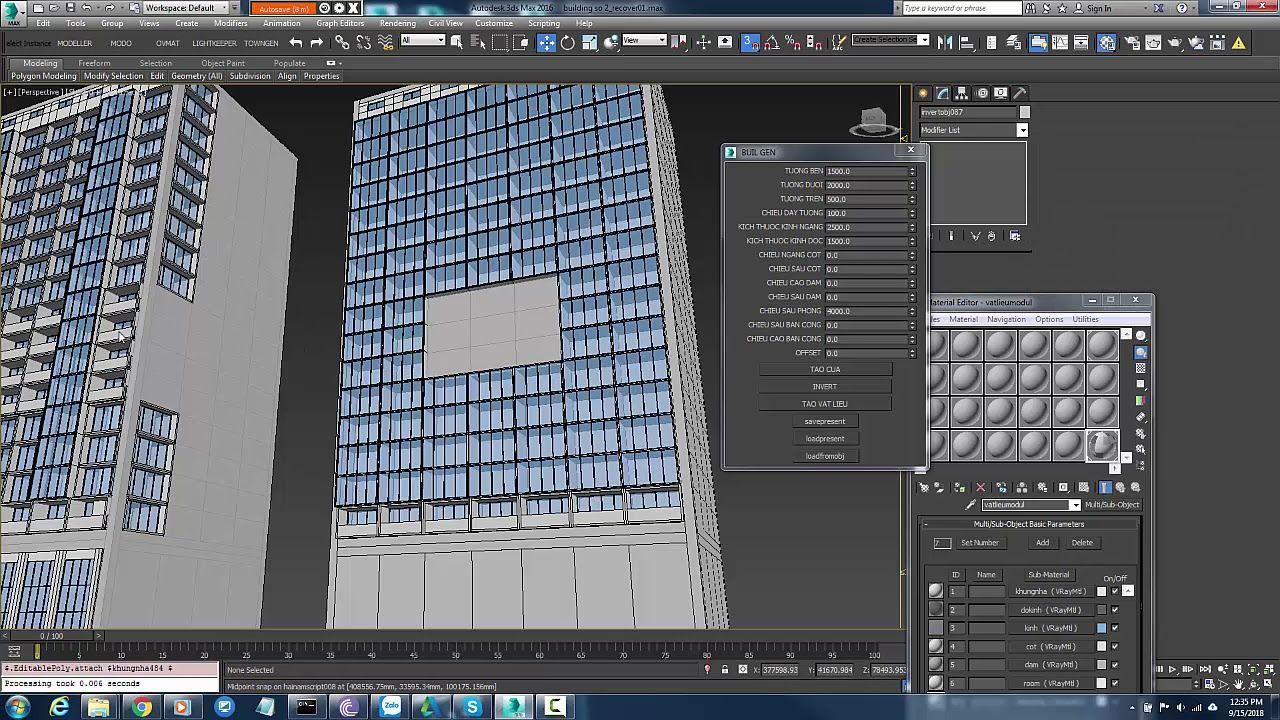 BUILDING GENERATOR MAXSCRIPT - YouTube | Web