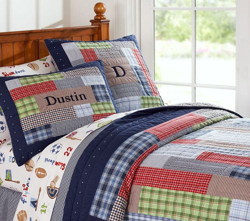 2. Pottery Barn Kids Dustin Quilted Bedding | Bedrooms | Pinterest ... : bedding and quilts - Adamdwight.com