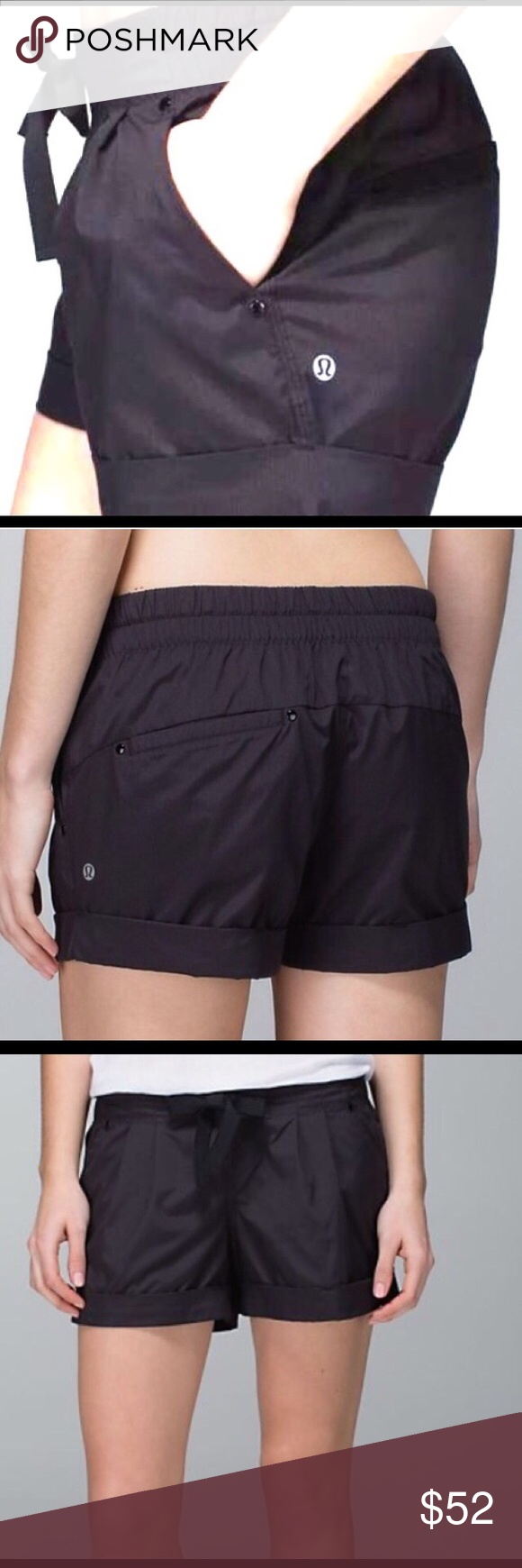 Lululemon Spring Breakaway Short Sz4 Lululemon Black size 4 Spring Breakaway short. Worn 3x and in beautiful condition. Elastic waistband, and extremely comfortable. lululemon athletica Shorts