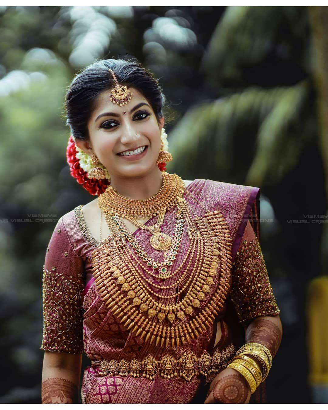 "Photo of KERALA BRIDES on Instagram: ""Bride: Ancy Sasidharan Mua: Jo makeup artist Saree: Seematti, Kochi Photography: Vismaya visual creations . . . . To get featured send…"""