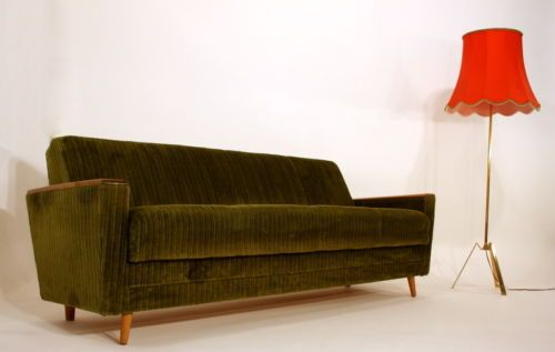 Surprising Green Corduroy Sofa Bed In 2019 Retro Sofa Sofa Sofa Bed Creativecarmelina Interior Chair Design Creativecarmelinacom