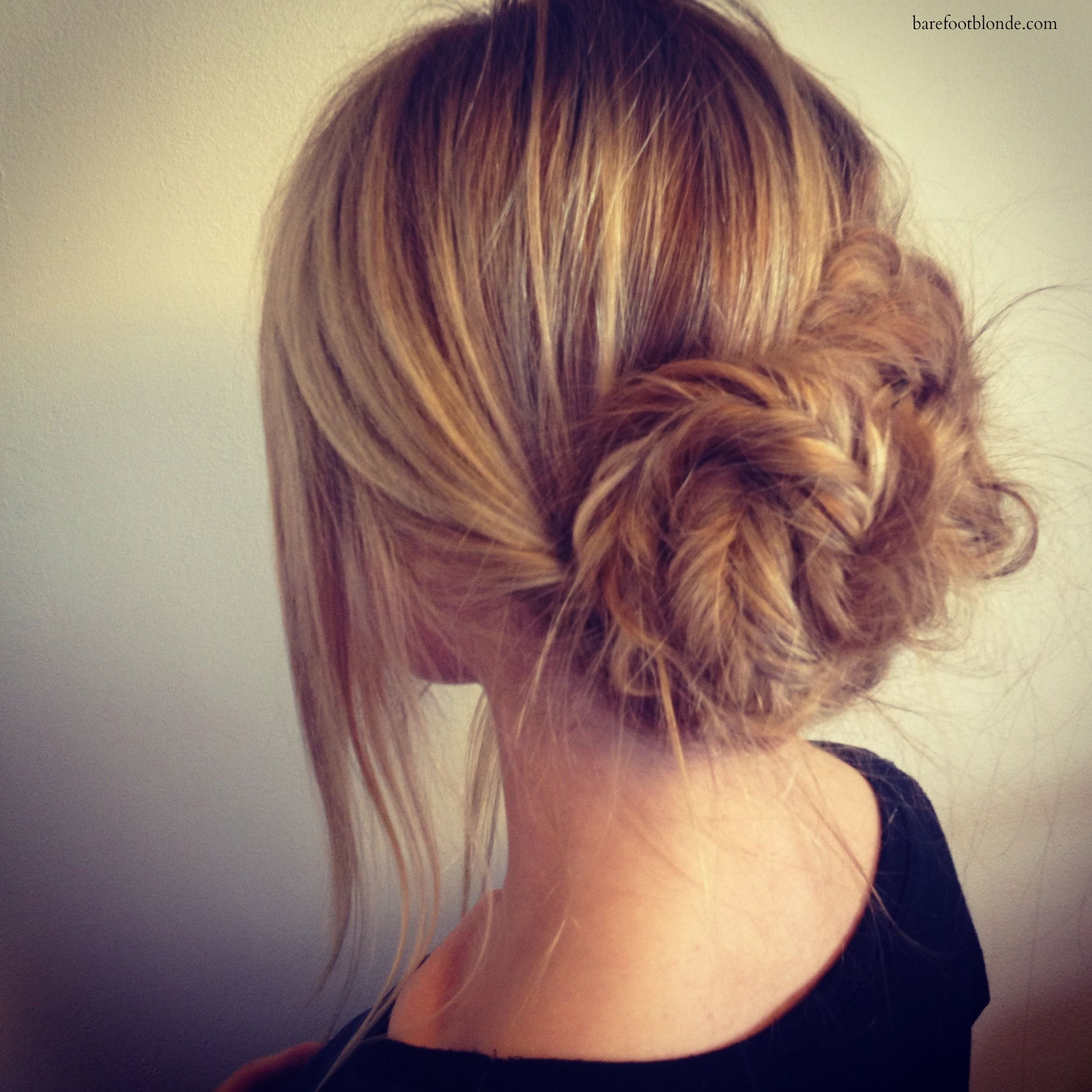 How to: Twisted Fishtail Bun
