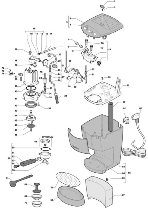 Gaggia Evolution Parts Diagram Part Diagrams