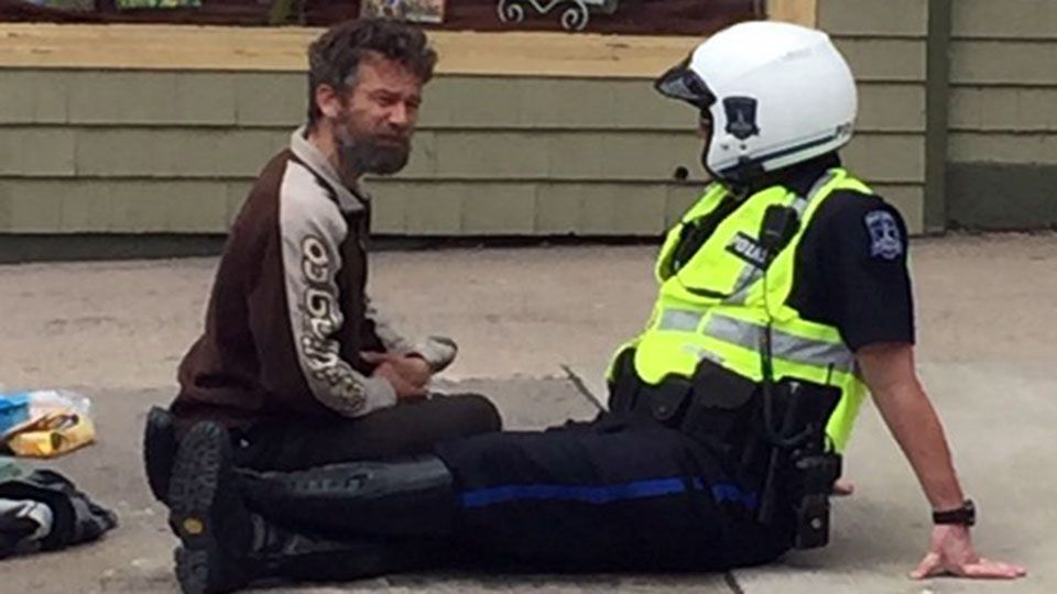 This photo of a Halifax cop and a homeless man just made
