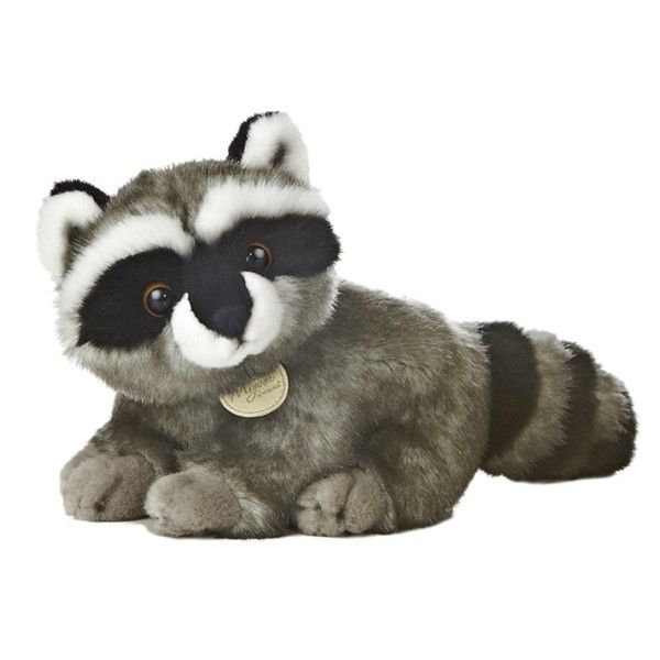 Realistic Stuffed Raccoon 10 Inch Plush Animal by Aurora at Stuffed... ($12) ❤ liked on Polyvore featuring stuffed animal