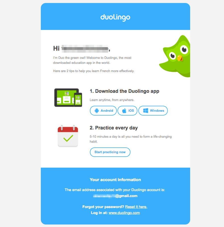 Image result for duolingo email campaign Email campaign